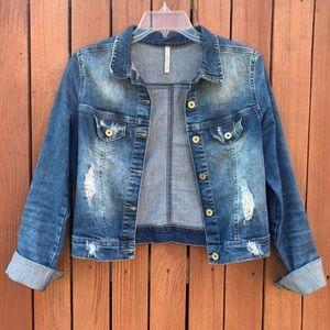 Blue Cotton Denim Jacket